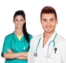 Attractive couple of doctors