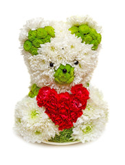 Bear made from flowers