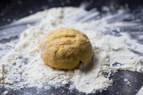 Mixed dough for Italian pasta or pizza