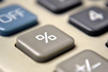 Calculator Close-Up on Percentage Symbol