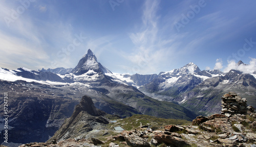 Beautiful mountain Matterhorn , Swiss Alps