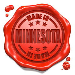 Made in Minnesota - Stamp on Red Wax Seal.