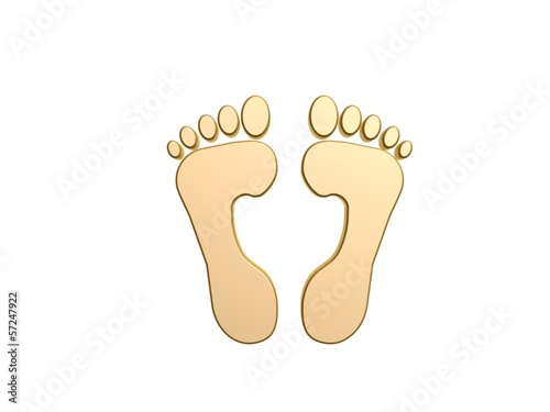 golden feet symbol