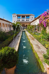 Alhambra palace at Granada Spain