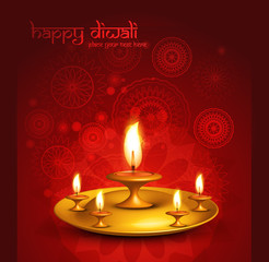 Happy diwali beautiful presentatio hindu festival background