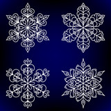 Decorative snowflakes.