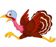 Cartoon turkey running
