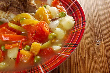 Traditional Bulgarian soup chorba