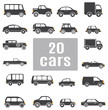 Cars. Set icons