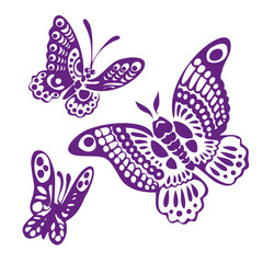 butterfly silhouettes vector llustration