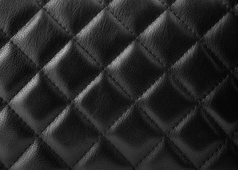 Black leather upholstery