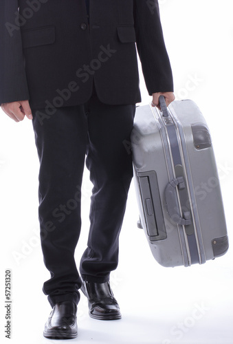 business travellers walking over the sea
