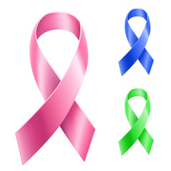 Cancer ribbon set
