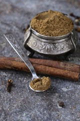 Indian mix of ground spices garam masala
