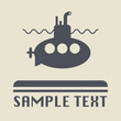 Submarine icon or sign, vector illustration
