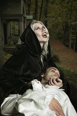 Vampire lady attack