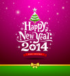 Happy New Year, lettering Greeting Card, vector