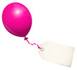 Pink Balloon & Label