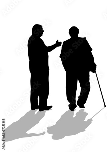 Two elderly men