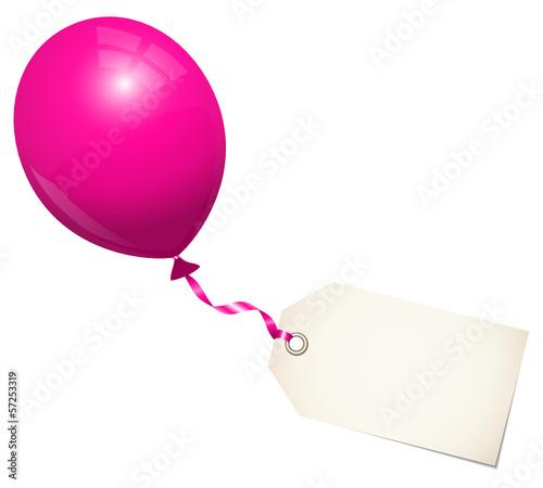 Pink Balloon & Label