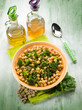 salad with broccoli anche chickpeas