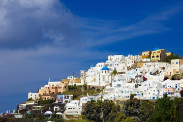View of the Fira (Thira), Santorini, Greece.