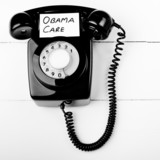 Obama care telephone help line concept