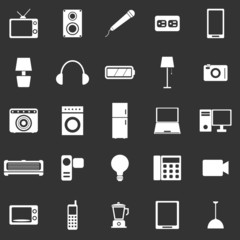 Electrical Machine icons on black background
