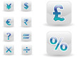 Currency and finance icon set