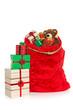 Christmas sack isolated on white