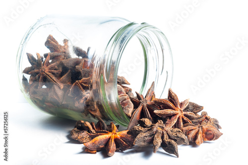Star Anise come out from a jar