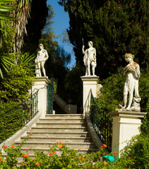 Achillion Palace on the island of Corfu.
