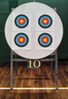 archery targets and number 10