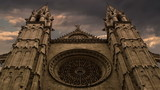 Le seu Cathedral in Palma de Mallorca, Spain time lapse
