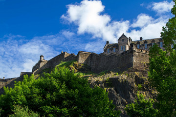 Edinburgh Castle under Blue Sky