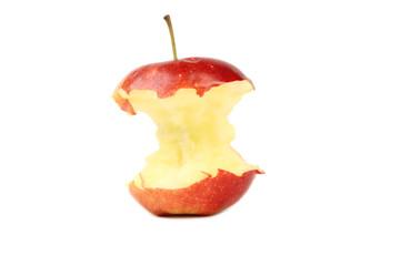 Red bitten apple.
