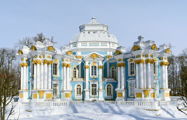 Hermitage Pavilion in Tsarskoe Selo near St.Petersburg, Russia