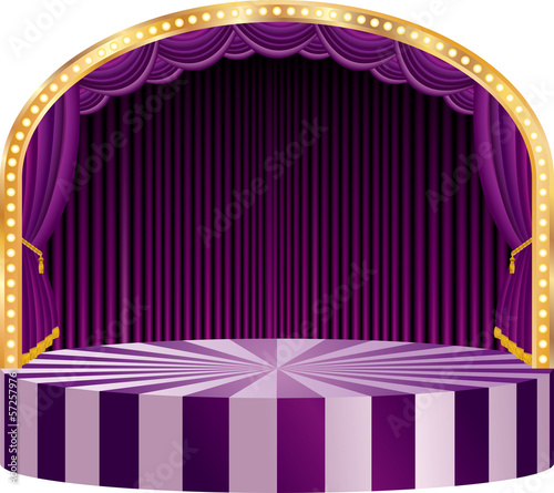 purple circle elipse stage