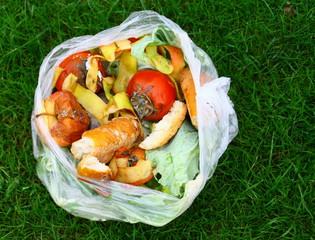 sac de déchets alimentaires pour compost