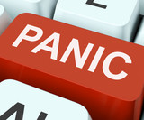 Panic Key Shows Panicky Terror Or Distress