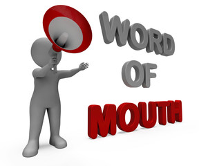 Word Of Mouth Character Shows Communication Networking Discussin