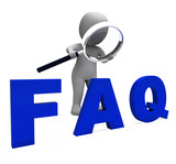 Faq 3d Character Shows Assistance Inquiries Or Frequently Asked