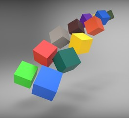 Blocks Falling Shows Action And Solutions