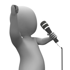 Entertainer Singing Shows Music Or Concert Performance