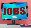 Jobs On Monitor Shows Employment Or Hiring Online