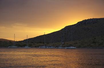 Tramonto alle isole Incoronate