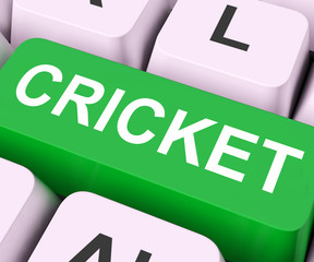 Cricket Key Means Sport Or Match.