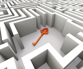 Lost Key In Maze Shows Security Solution
