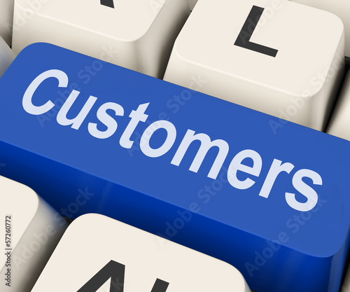 Customers Key Means Consumer Or Buyer.