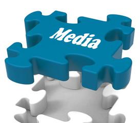 Media Jigsaw Shows Tvs News Newspapers Radio Or Tv